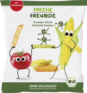 erdbär Bio Knusper-Sticks Dreierlei Gemüse