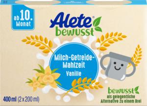 Alete bewusst Milch-Getreide-Mahlzeit Vanille-Geschmack