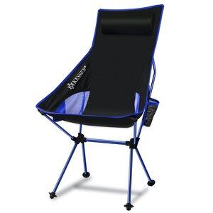 KESSER Campingstuhl faltbar mit hoher Rückenlehne bis 120 kg mit Getränkehalter, Blau