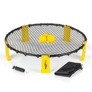 MAXXMEE Mini-Volleyball-Spiel Spike Ball Set 6-tlg. gelb/schwarz, Mehrfarbig