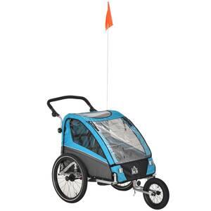 Homcom 3in1 Kinderwagen auch als Jogger und Fahrradanhänger, Blau