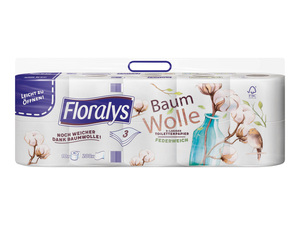 Floralys Toilettenpapier Baumwolle