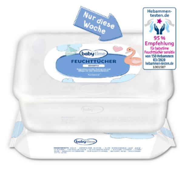 BABYTIME Feuchttücher sensitiv + Box