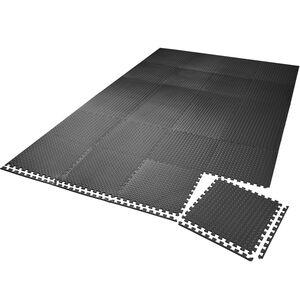 Bodenschutzmatte 24-tlg. schwarz