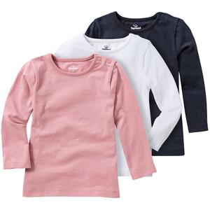 3 Baby Langarmshirts im Basic-Style