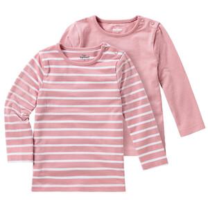 2 Baby Langarmshirts im Basic-Style