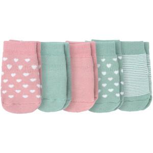 5 Paar Baby Frottee-Socken mit ABS-Sohle