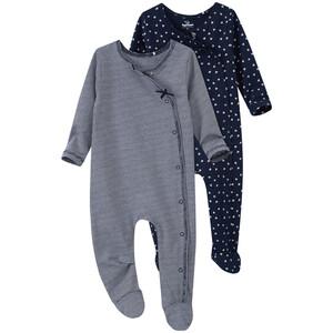 2 Newborn Schlafanzüge mit Allover-Muster