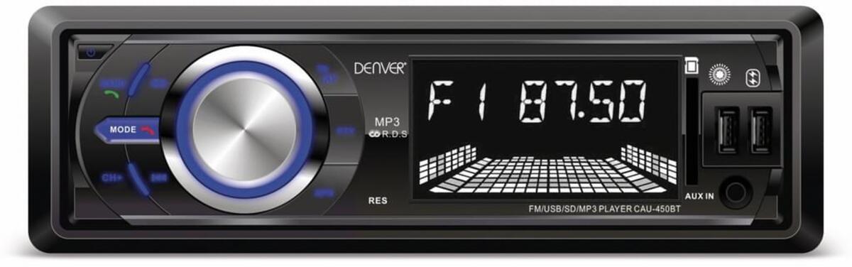 Bild 1 von Denver Cau-450Bt - Autoradio Mit Bluetooth®, 2 Usb-Eingängen, Sd-Kartenslot Und Aux-Eingang