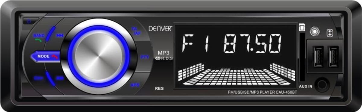 Bild 2 von Denver Cau-450Bt - Autoradio Mit Bluetooth®, 2 Usb-Eingängen, Sd-Kartenslot Und Aux-Eingang