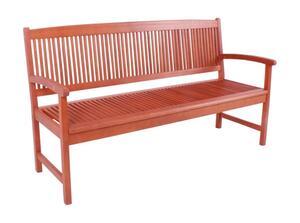 Garden Pleasure 985032 Gartenbank 'Stockholm' 2-Stizer Bank aus geöltem Eukalyptus B127xH90,5xT60 cm