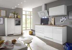 respekta Küche Küchenzeile Küchenblock Einbauküche Komplettküche weiß 320 cm