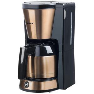 Bestron Kaffeemaschine mit Thermokanne, 8 Tassen, 900 W, Edelstahl in Kupfer -Optik