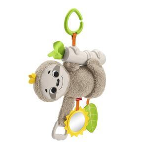 Fisher-Price Kleines Spiel-Faultier, Baby-Spielzeug für Neugeborene, Kuscheltier-Kette