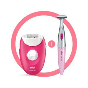 Braun Silk-épil 3-420, Epilierer für langanhaltende Haarentfernung, inklusive Bikinitrimmer, 20 Pinzetten
