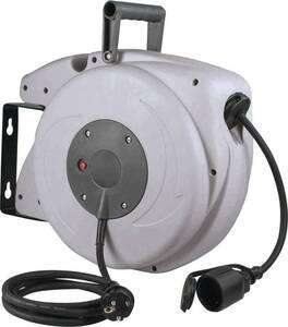 Automatischer Kabelaufroller 20+2m H05VV-F 3G1,5, Tragegriff, Wandhalter