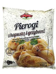 "Teigtaschen mit 40% Sauerkraut- und Pilzfüllung ""Pirogi z ka..."