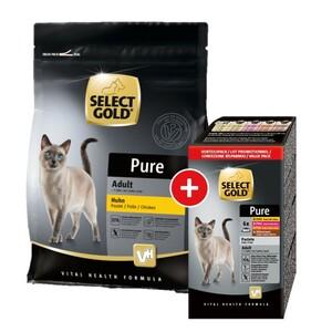 PURE Adult Mischfütterung-Set 2tlg. Pure Adult Huhn 400g + 6x85g Multipack Schalen