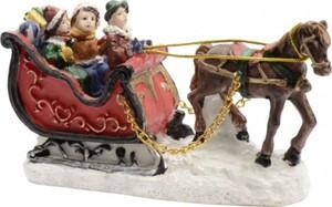 Kaemingk Dekofigur Pferdeschlitten ,  5 x 12 x 6,5 cm, bunt