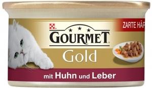 Purina Gourmet Gold mit Huhn und Leber Katzenfutter nass 85 g
