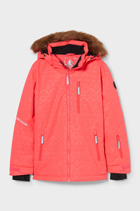 C&A Skijacke mit Kapuze, Pink, Größe: 140