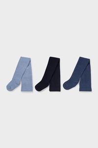 C&A Multipack 3er-Strumpfhose, Blau, Größe: 92