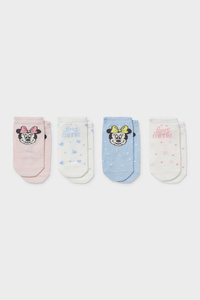 C&A Multipack 4er-Minnie Maus-Baby-Socken, Rosa, Größe: 15-17