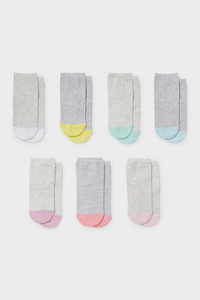 C&A Multipack 7er-Socken, Grau, Größe: 34-36