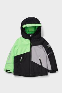 C&A Skijacke mit Kapuze-recycelt, Schwarz, Größe: 98