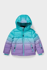 C&A Ski-Jacke mit Kapuze-recycelt, Grün, Größe: 98