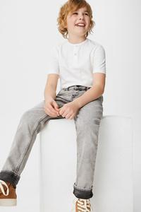 C&A Slim Jeans-Bio-Baumwolle, Grau, Größe: 128