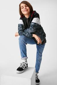C&A Slim Jeans-Bio-Baumwolle, Blau, Größe: 128