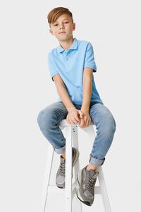 C&A Super Skinny Jeans-Bio-Baumwolle, Blau, Größe: 128