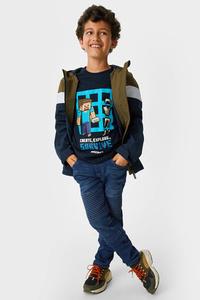 C&A Tapered Jeans-Bio-Baumwolle, Blau, Größe: 134