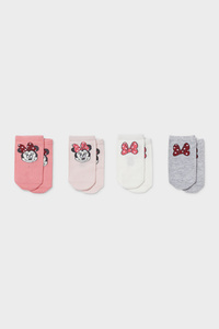 C&A Multipack 4er-Minnie Maus-Baby-Socken, Weiß, Größe: 18-20