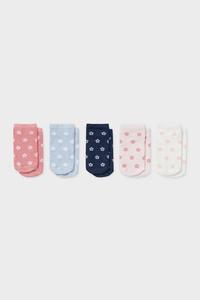 C&A Multipack 5er-Baby-Socken-geblümt, Weiß, Größe: 18-20