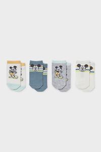 C&A Multipack 4er-Micky Maus-Baby-Socken, Weiß, Größe: 18-20