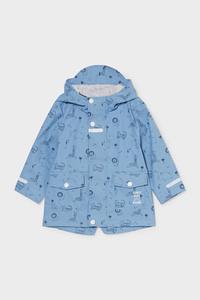 C&A Baby-Regenjacke mit Kapuze, Blau, Größe: 98