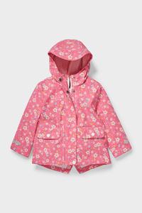 C&A Baby-Regenjacke mit Kapuze, Pink, Größe: 80