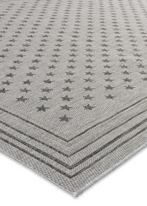 In- und Outdoor Teppich mit Sternen und Bordüre