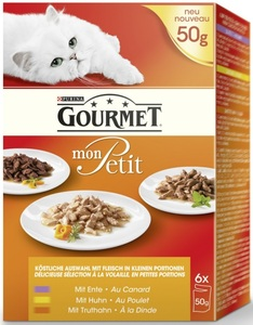 Purina Gourmet Mon Petit Multipack Geflügel 6x 50G