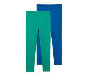 2 Leggings, blau, grün