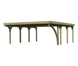 Karibu-Doppelcarport »Classic«, B, Stahl, 670
