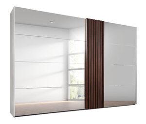 Rauch-Schwebetürenschrank »Tegio« mit Spiegel, grau, ca. 280 cm