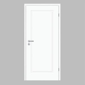 """Borne              Zimmertür, """"Lusso 01"""", 198,5x73,5 cm, design-weiß, rechts"""