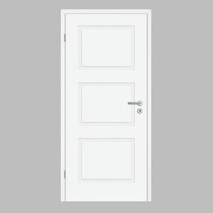 """Borne              Zimmertür """"Lusso 03"""", 198,5x73,5 cm, design-weiß, links"""