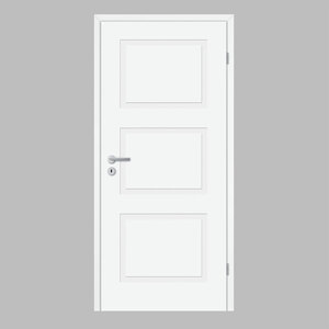 """Borne              Zimmertür """"Lusso 03"""", 198,5x73,5 cm, design-weiß, rechts"""
