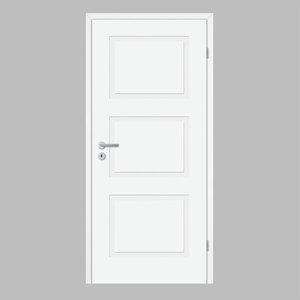 """Borne              Zimmertür """"Lusso 03"""", 198,5x86 cm, design-weiß, rechts"""