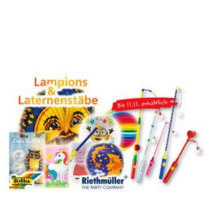 Lampion und Laternenstäbe