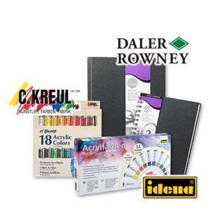 Acrylfarben oder Skizzenbücher